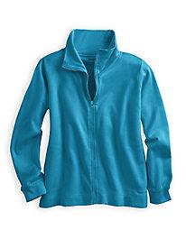ForeverSoft Fleece Long Sleeve Zip Jacket