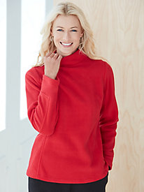 Microfleece Mock Neck Pullover