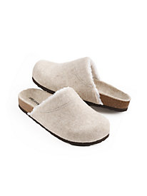 Wool Slipper with Sherpa Lining
