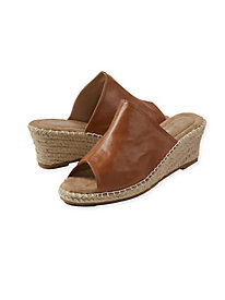 Leather Slide Espadrilles