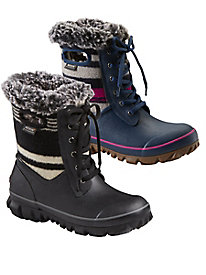 Bogs Arcata Striped Lace-Up Boots