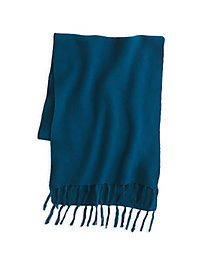 Textured Cotton Silk Fringe Scarf
