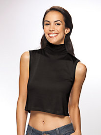 Ladies' Turtleneck Midriff Dickey in Mid-weight Washable Silk