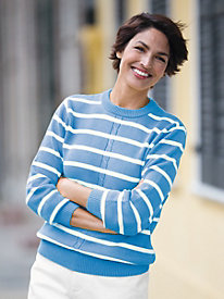 Center-Cable Crew-Neck Sweater