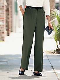 Stretch Wool Gabardine Fly Front Pants
