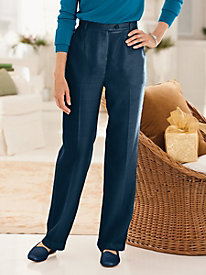 Washable Wool Fly-Front Pant