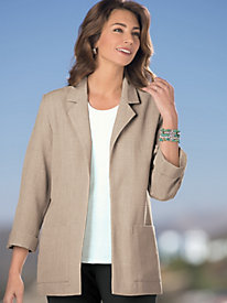 Three-Quarter Roll-Sleeved Jacket