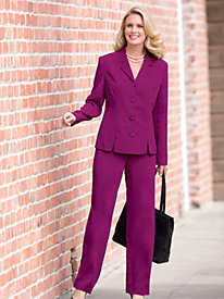 Timeless Style Peachskin Pant Suit