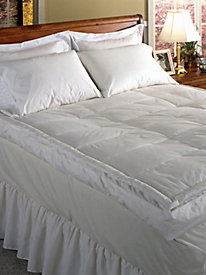 233 Thread Count Cambric Cotton Down Top Featherbed