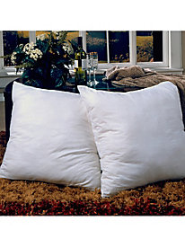 Euro Square Feather Pillow 2 Pack