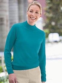 Spindrift? Zip-Back Mockneck Sweater