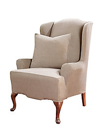Stretch Suede Wing Recliner Slipcovers