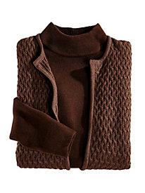 Basketweave Vest & Sweater Set