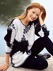 Graphic-Pattern Sweater