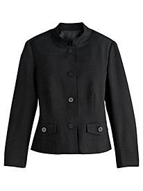 Mandarin Collar Textured Jacket
