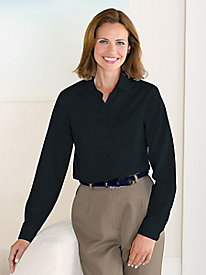Wrinkle-Free Round Collar Blouse By Foxcroft®