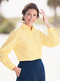 Wrinkle-Free Round Collar Blouse By Foxcroft�