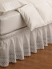 Easy Fit Eyelet Ruffle Bedskirt Collection by linensource