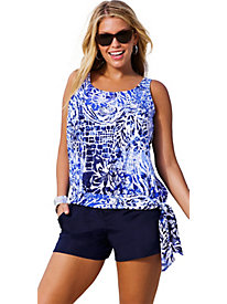 Beach Belle Maroubra Plus Size Blouson Navy Cargo Shortini