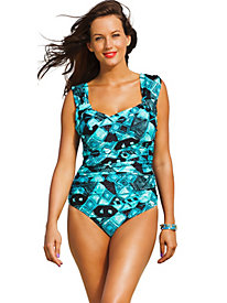 Shore Club Mirage Plus Size Crossover Swimsuit
