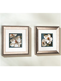 Blue Magnolias Framed Print (set of 2)