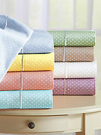 Serenity Dot Sheet & Duvet Bedding Collection