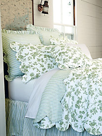 Sheffield Toile Coverlet, Shams & Pillows