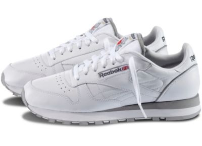 Reebok Men's White Classic Leather Shoe