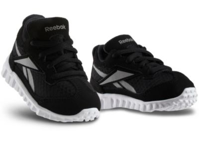 Reebok Boys Black Mini RealFlex Run - Infant/Toddler Running Shoe