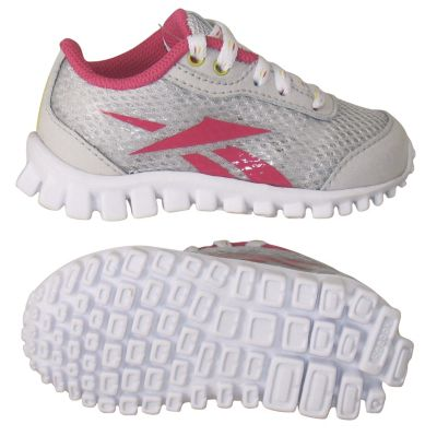 Reebok Girls Salty Grey Mini RealFlex Optimal - Infant/Toddler Running Shoe