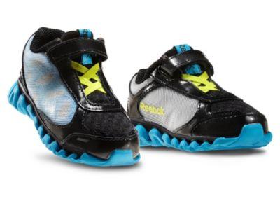 Reebok Boys Black Mini ZigLite Rush - Infant/Toddler Running Shoe