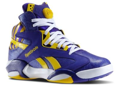 Reebok Men's Team Purple Shaq Attaq Basketball Shoes