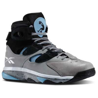 Reebok Men's Grey Shaq Attaq IV Basketball Shoes