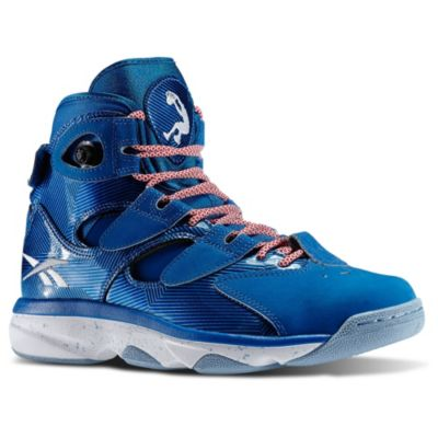 Reebok Men's Blue Shaq Attaq IV Basketball Shoes
