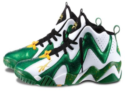 Reebok Men's White Kamikaze II Mid Shoe