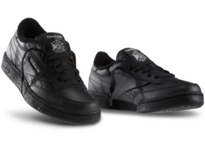 Boys Black Club C - Youth Shoes - 5.5