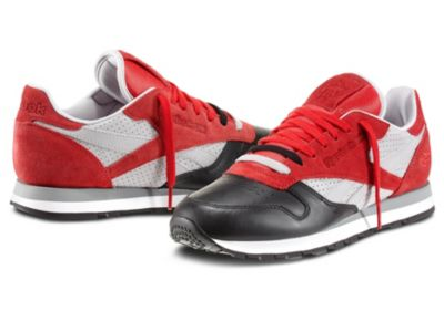 Reebok Men's Red Classic Leather - City Classic Shoe