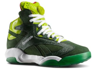Reebok Men's Green Shaq Attaq - Ghost of Christmas Present Basketball Shoes