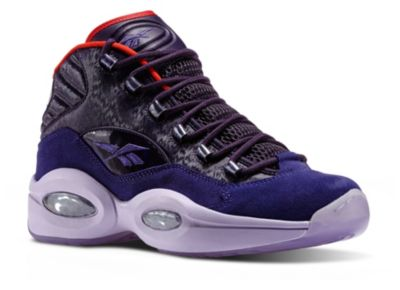 Reebok Men's Purple Black Question Mid - Ghost of Christmas Future Basketball Shoes