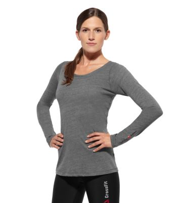 Reebok CrossFit Tri-Blend Long Sleeve Tee