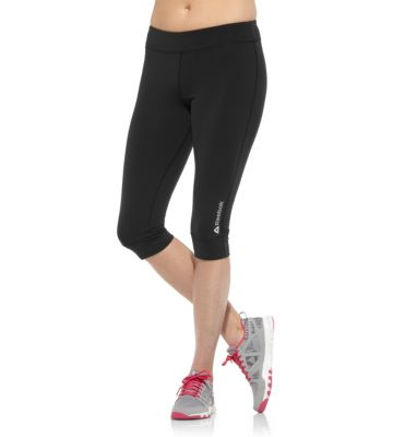 Reebok Women's Black PWR Fitted Capri