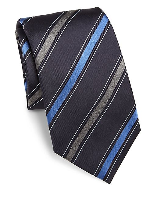 Saks Fifth Avenue Collection - Multi Diagonal Stripe Silk Tie