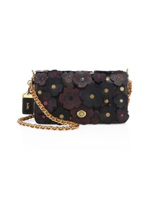 1941 Tea Rose Appliqué Leather Crossbody Bag