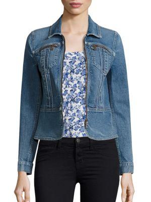 Zip front Denim Jacket