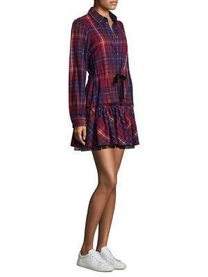 Flannel Tartan Cotton Shirtdress