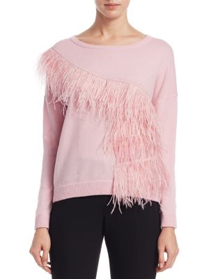 Feather Trim Sweater