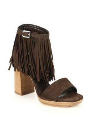 Prada Suede Fringe Sandals