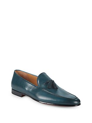 Saks Fifth Avenue Collection By Magnanni Leather Loafers by Saks Fifth Avenue By Magnanni