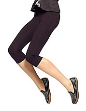 Stretch Cotton Capri Leggings