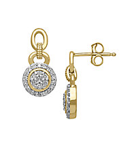 Diamond 14K Yellow Gold Earrings